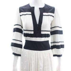ISABEL MARANT ÉTOILE IVORY & BLACK COTTON DRESS 2
